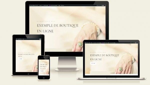 exemple de boutique de bijoux en ligne woocommerce